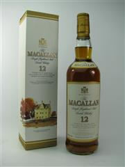 Sale 8329 - Lot 511 - 1x The Macallan Distillers 12YO Sherry Oak Cask Single Highland Malt Scotch Whisky - 40% ABV, 700ml in box