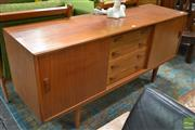 Sale 8528 - Lot 1028 - Quality Clausen Danish Teak Sideboard