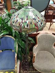 Sale 8601 - Lot 1019 - Leadlight Standard Lamp