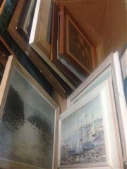 Sale 8655 - Lot 2098 - Box of Assorted Artworks & Decorative Prints, various sizes