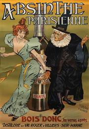 Sale 8692 - Lot 543 - Pierre-Henri Gelis-Didot (1853 - ?) & Louis Malteste (1862 - 1928) - Absinthe Parisienne 124 x 84.5cm