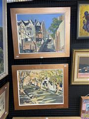 Sale 8995 - Lot 2033 - R. Greer (2 works) Sydney Street Scenes, 1971 oils on canvas, 53 x 63cm (each) signed
