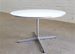 Sale 9117 - Lot 1020 - Fritz Hansen occasional table over chrome base (h:47 x d:75cm)