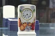 Sale 8288 - Lot 14 - Moorcroft Butterflys Mantle Clock