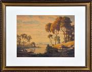 Sale 8316 - Lot 579 - John Mather (1848 - 1916) - Cattle Drinking, 1910 27 x 36cm