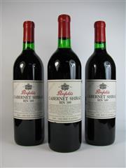 Sale 8340A - Lot 694 - 3x 1992 Penfolds Bin 389 Cabernet Shiraz, South Australia - into neck