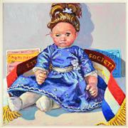 Sale 8394 - Lot 546 - Lucy Culliton (1966 - ) - Dressed Doll, 2007 60 x 60cm