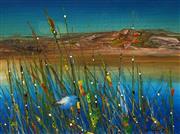 Sale 8633 - Lot 570 - Peter Coad (1947 - ) - Blue Wren - Kakadu, 1989 32.5 x 44cm