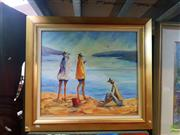 Sale 8627 - Lot 2057 - Neville McIntosh First for the Day, oil on canvas, 88 x 99cm (frame), signed lower right