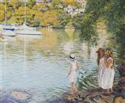 Sale 8704 - Lot 501 - Patrick Russell - The Departure, Mosman Bay 63 x 76cm