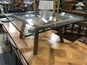 Sale 8809 - Lot 1036 - Modern Glass Top Coffee Table