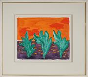 Sale 8927 - Lot 2004 - Andrew Southall (1947 - ) Desert Shrubs oil on board, 43.5x52cm, unsigned -