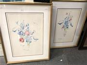 Sale 8903 - Lot 2088 - Jennifer Vivian (two works), Spring 1 & 2, pastels, 68 x 53 cm (each), signed lower right each,