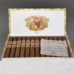 Sale 9142W - Lot 1048 - Romeo y Julieta Petit Churchills Cuban Cigars - box of 25 cigars, dated December 2019