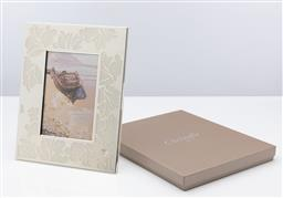 Sale 9255H - Lot 72 - A Christofle silver-plated Botanica picture frame, 24.5cm x 19.5cm, RRP $545.