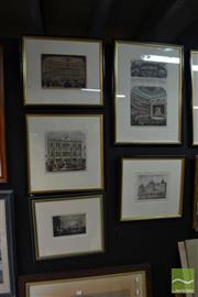 Sale 8491 - Lot 2059 - 6 Engravings of Theatres of Melbourne incl. 2 of the front page of The Illustrated Australian News