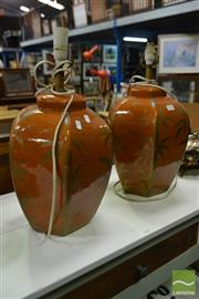 Sale 8507 - Lot 1010 - Pair of Ceramic Table Lamps