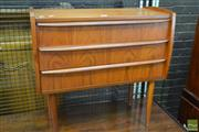 Sale 8528 - Lot 1015 - Superb Danish Teak 3 Drawer Chest