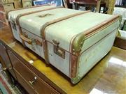 Sale 8657 - Lot 1071 - Vintage Timber Bound Travelling Trunk