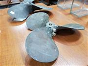 Sale 8741 - Lot 1062 - Pair of Vintage Brass Boat Propellers