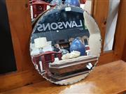 Sale 8834 - Lot 1065 - Art Deco Scalloped Edge Mirror