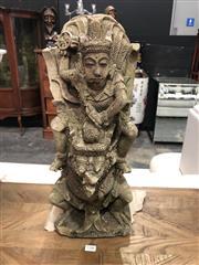 Sale 8868 - Lot 1186 - Balinese Concrete Deity Figure (Some Damage) (Height