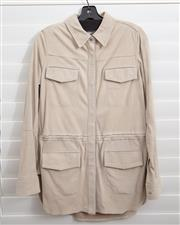 Sale 8902H - Lot 151 - A Vince suede safari style coat in bone, size S