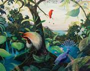 Sale 8938 - Lot 514 - Heinz Steinmann (1943 -) - Madang Journey, PNG, 1991 106 x 137 cm
