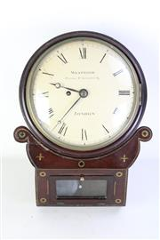 Sale 8972 - Lot 6 - An Antique Wall clock Westwood Princes Street Leicester sq, London (Untested, With Pendulum) L:30cm (Some wear)