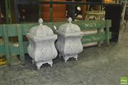 Sale 8352 - Lot 1100 - Pair of Candle Holder Lanterns and Two Decorative Signs