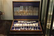 Sale 8369 - Lot 87 - Cutlery Canteen with EPNS Flatwear