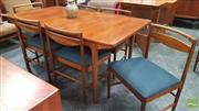 Sale 8395 - Lot 1025 - McIntosh Teak Table & Set of Six Chairs