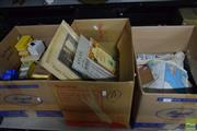 Sale 8518 - Lot 2329 - 3 Boxes of Ephemera, Books, Prints, Educational Slides & Film incl National Geographic Map of Europe 1940 & AIF 1918 Cairo Museum Book