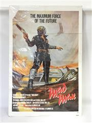 Sale 8600A - Lot 53 - Original 1979 Mad Max movie poster with cardboard backing and plastic cover, #80029, H 104 x L 69cm.