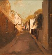 Sale 8652A - Lot 5013 - Colin Parker (1941 - ) - Glebe Laneway 29.5 x 28cm