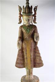 Sale 8818 - Lot 259 - Burmese Polychrome Standing Buddha Jambupati
