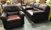 Sale 8809 - Lot 1065 - Moran 3 Piece Leather Lounge Suite