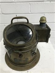 Sale 9092 - Lot 1056 - Brass cased 1940 Patts Binaccle with Working Compass and Oil Lamp (:25cm)