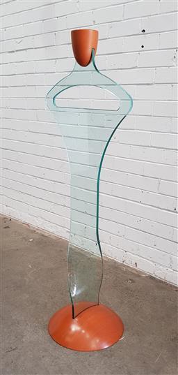 Sale 9117 - Lot 1041 - Fiam Italian modern glass gents valet (h:130cm)