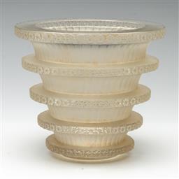 Sale 9211 - Lot 35 - A Rene Lalique Chevreuse Vase (H:16cm Dia:18cm)