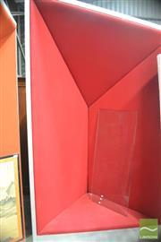 Sale 8310 - Lot 1009 - Large Metallic Framed Chair with Red Velvet Upholstery
