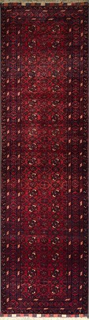 Sale 8338C - Lot 51 - Afghan Qunduzi 300cm x 82cm