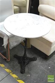 Sale 8398 - Lot 1090 - Marble Top Table (60cm)