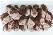 Sale 8403 - Lot 36 - Ceramic Masks with Hair Pieces (30)