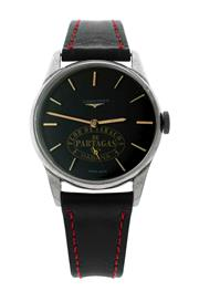 Sale 8522A - Lot 45 - A vintage mens large Longines Havana wristwatch, circa 1950 -60s, 35mm, black dial with Havana Patagras logo, manual wind, stainle...