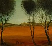 Sale 8732 - Lot 555 - Kevin Charles (Pro) Hart (1928 - 2006) - Landscape 17 x 19.5cm