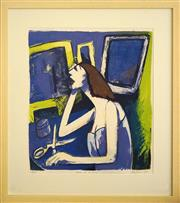 Sale 8734A - Lot 1 - Christine Du Fresne - Woman at the Mirror 76 x 68cm (frame size)
