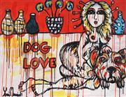 Sale 8826A - Lot 5051 - Yosi Messiah (1964 - ) - Dog Love 75 x 100cm
