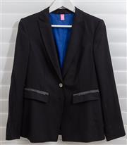 Sale 8902H - Lot 127 - A Basler single breasted blazer in black with pocket details and blue satin lining, size S-M