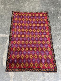 Sale 9129 - Lot 1026 - Hand knotted pure wool Persian balouchi (140 x 90cm)